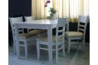 Bộ bàn ăn 4 ghế HW309-WH